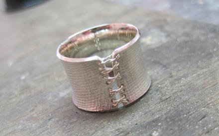 Corsagenring-Anfertigung - 925 Silber